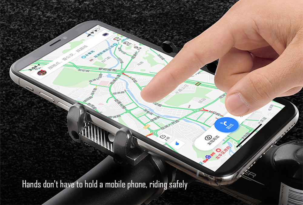 GUB G - 81 Aluminium Alloy Phone Bracket Bicycle Motorcycle Smartphone Holder for Delivery Man - Red