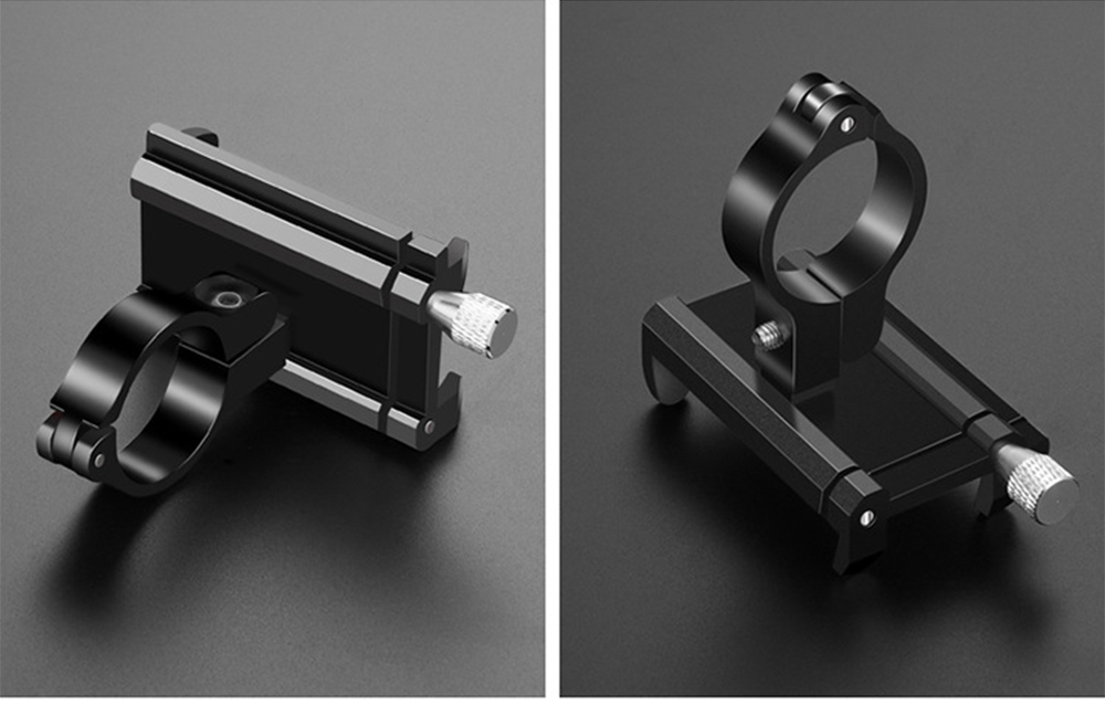 GUB G - 81 Aluminium Alloy Phone Bracket Bicycle Motorcycle Smartphone Holder for Delivery Man- Black