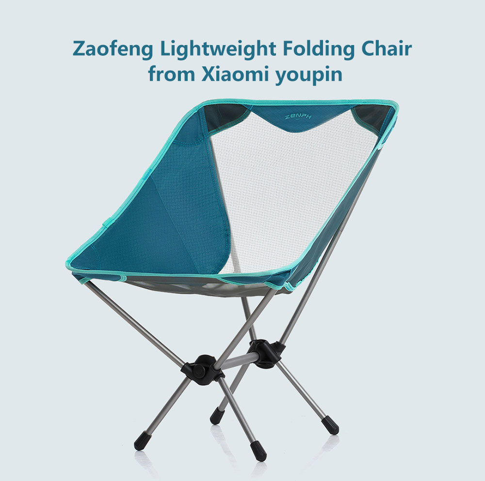 Zaofeng Lightweight Folding Chair from Xiaomi youpin- Peacock Blue