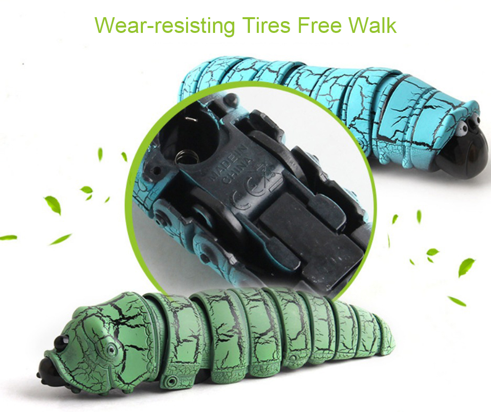 Creative Electric Induction Remote Control Caterpillar Toys- Green Inductive version