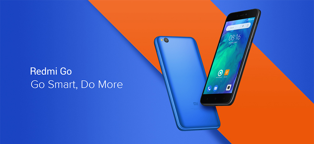Xiaomi Redmi Go 4G Smartphone 5.0 inch Android Go OS Snapdragon 425 Quad core 1.4GHz 1GB RAM 8GB ROM 8.0MP Rear Camera 5.0MP Front Camera 3000mAh Built-in- Blue
