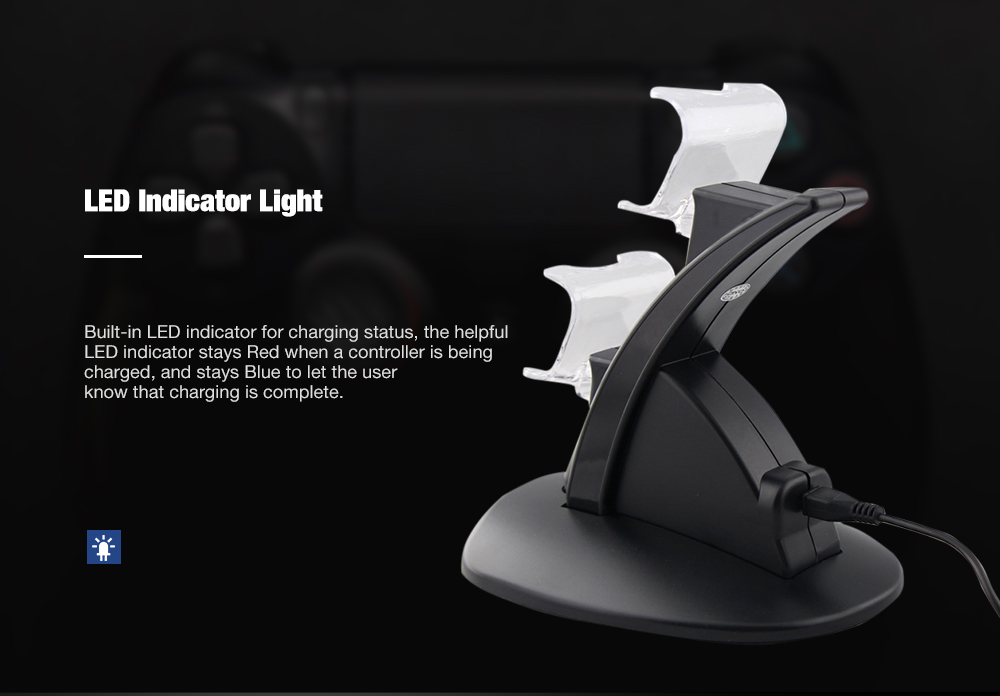 Dual Usb Charger Charging Station Stand For Sony Ps4 Ps4 Pro Controller