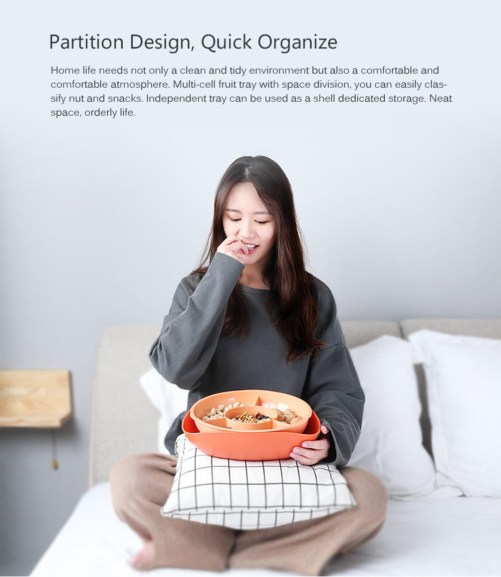 Multi-cell Partition Fruit Tray from Xiaomi youpin- White