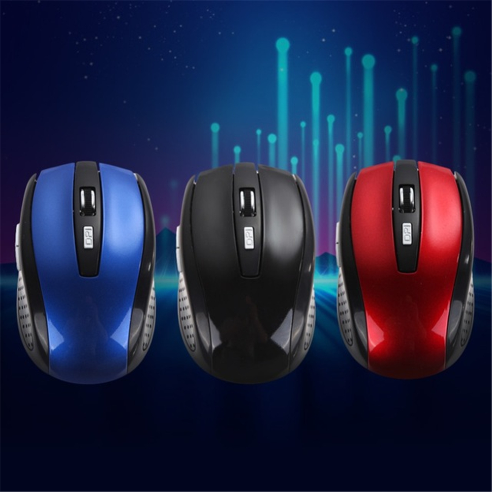 2.4GHZ Wireless Gaming Mouse 6 Keys USB Receiver Pro Gamer Mice For PC- Black
