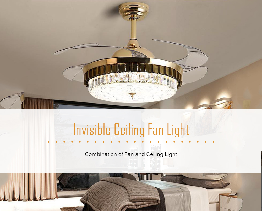 Invisible Ceiling Fan Light Modern Dining Room Chandelier
