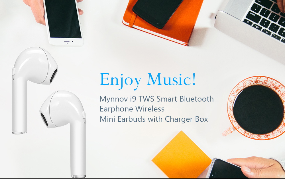 c647035b523 Mynnov i9 TWS Smart Bluetooth Earphone Wireless Mini Earbuds with Charger  Box- White