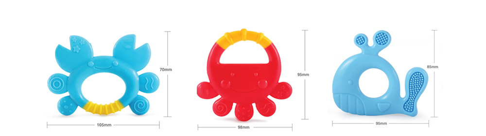 YOYO MONKEY MS238 Silicone Teether- Multi Whale