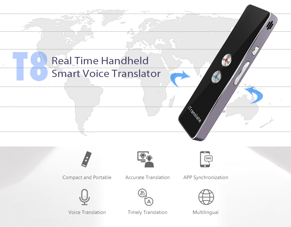 T8 Real Time Handheld Smart Voice Translator