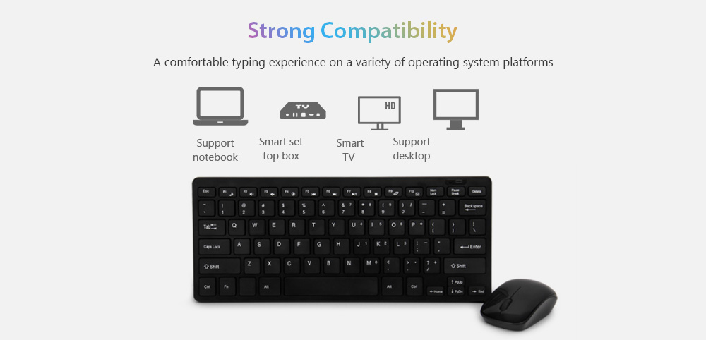 HK - 03 Creative Wireless Keyboard Mouse Set for Daily Use