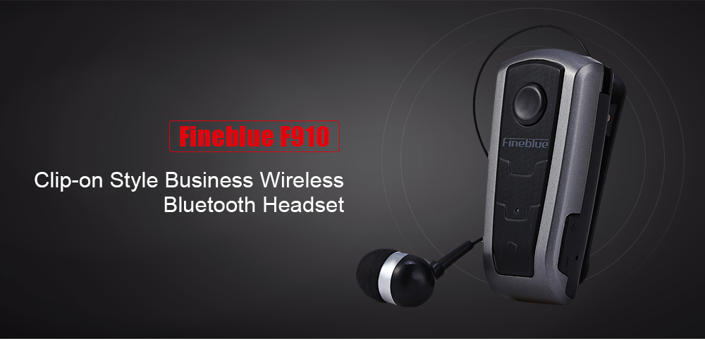 ASTROSOAR - Fineblue F910 Mini Bluetooth Earphone with Microphone Wireless Music Sport Headset Universal for Business