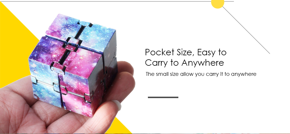 Creative Starry Sky Infinity Magic Cube Adults Stress Relief Kids Toys Gift- Multi