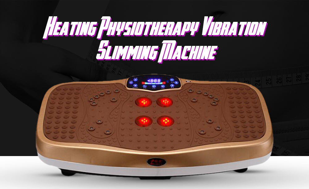001C4 Heating Physiotherapy Vibration Slimming Machine- Champagne Gold