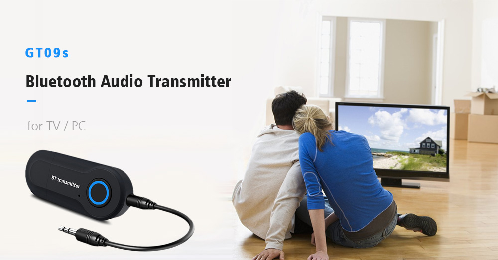 GT09s Bluetooth Audio Transmitter for TV / PC- Black