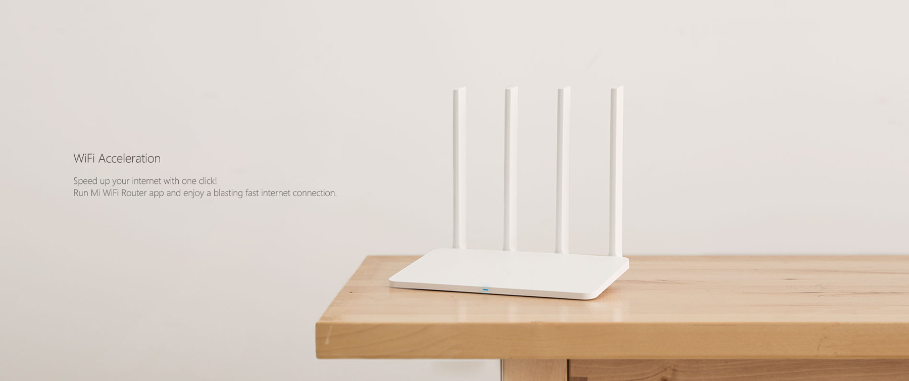Original Xiaomi Mi 300Mbps 2.4GHz WiFi Router 3C Signal Booster with 4 Antenna Chinese Version- White Chinese Plug
