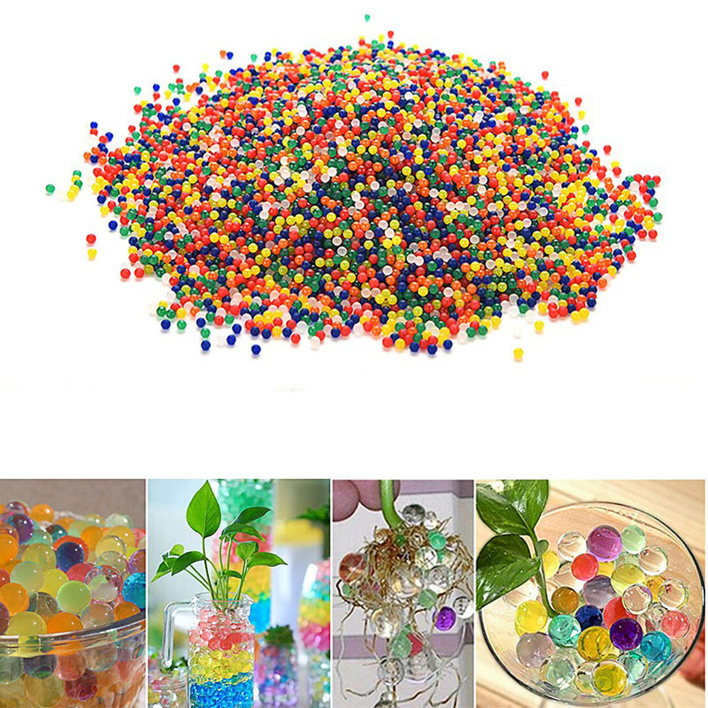 Colored Soft Crystal Water Paintball Bullet Plant Potted ArtifactToy Accessories- Multi-A