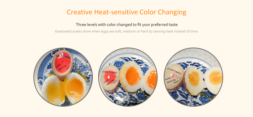 Latest Home Decor EGG PERFECT EGG TIMER boil perfect eggs Every Kitchen Time Egg Cooking Timer- Red