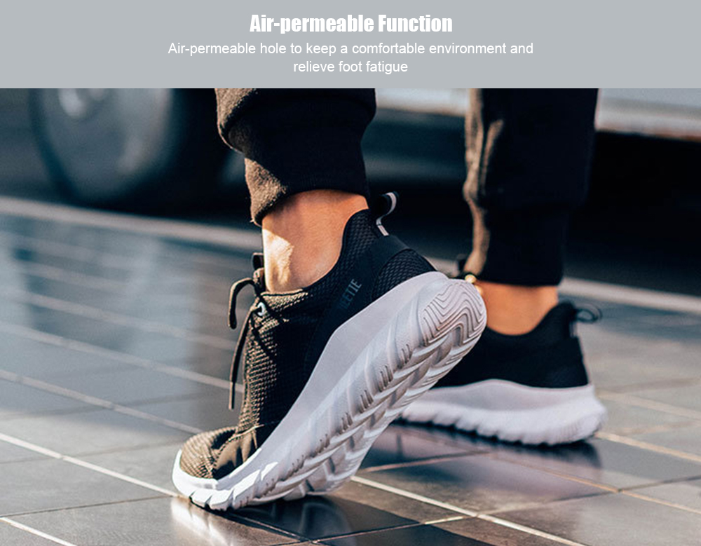 da7bea8af26 FREETIE Men Air Mesh Breathable Casual Running Shoes from Xiaomi youpin -  Black EU 42