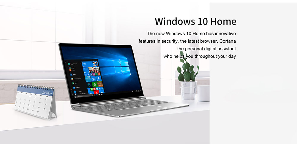 Teclast F15 Notebook 15.6 inch Windows 10 Home English Version Intel N4100 Quad Core 1.1GHz 8GB RAM 256GB SSD 1.0MP Front Camera Micro HDMI 6000mAh Built-in - Platinum