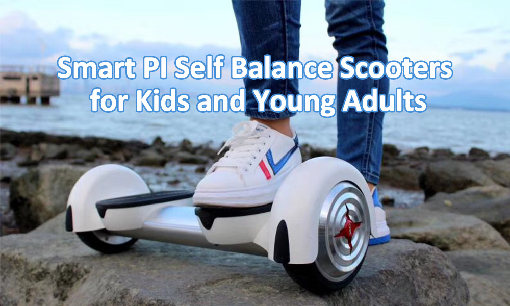 Smart PI Self Balance Scooters for Kids and Young Adults- Black