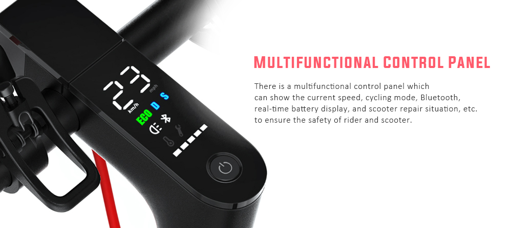 Xiaomi Electric Scooter Pro: Puede ser controlado a través de su panel multifuncional