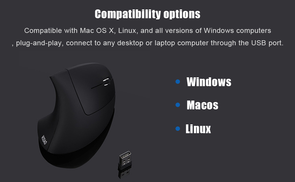 MODAO 2 4G Vertical Wireless Mouse