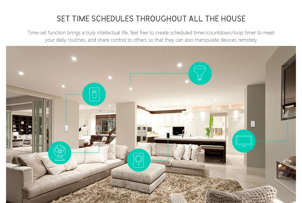 SONOFF BASIC Wireless WiFi Smart Switch Intelligent Remote Control for DIY Home Safety- White