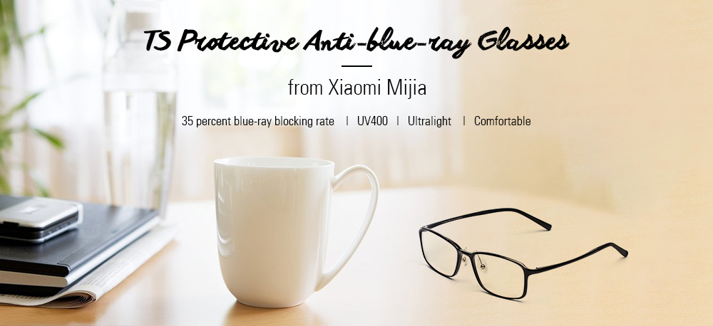 63530784ad4 TS Protective Anti-blue-ray Glasses from Xiaomi Mijia -  19.99 Free ...