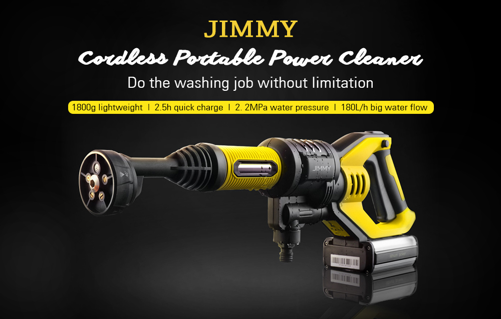 JIMMY JW31 Powerful Handheld Rechargeable Flush Gun Cleaning Tool- Multi-A 220V EU Plug