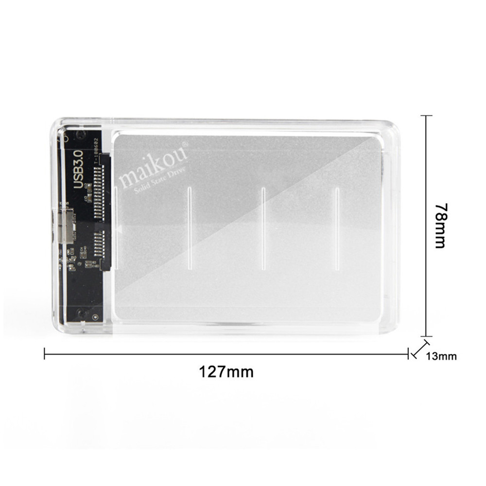 MAIKOU SSD 2.5 SATA3 6.0Gb/S Solid State Drive Notebook Desktop PC Universal - Silver- Silver 120GB