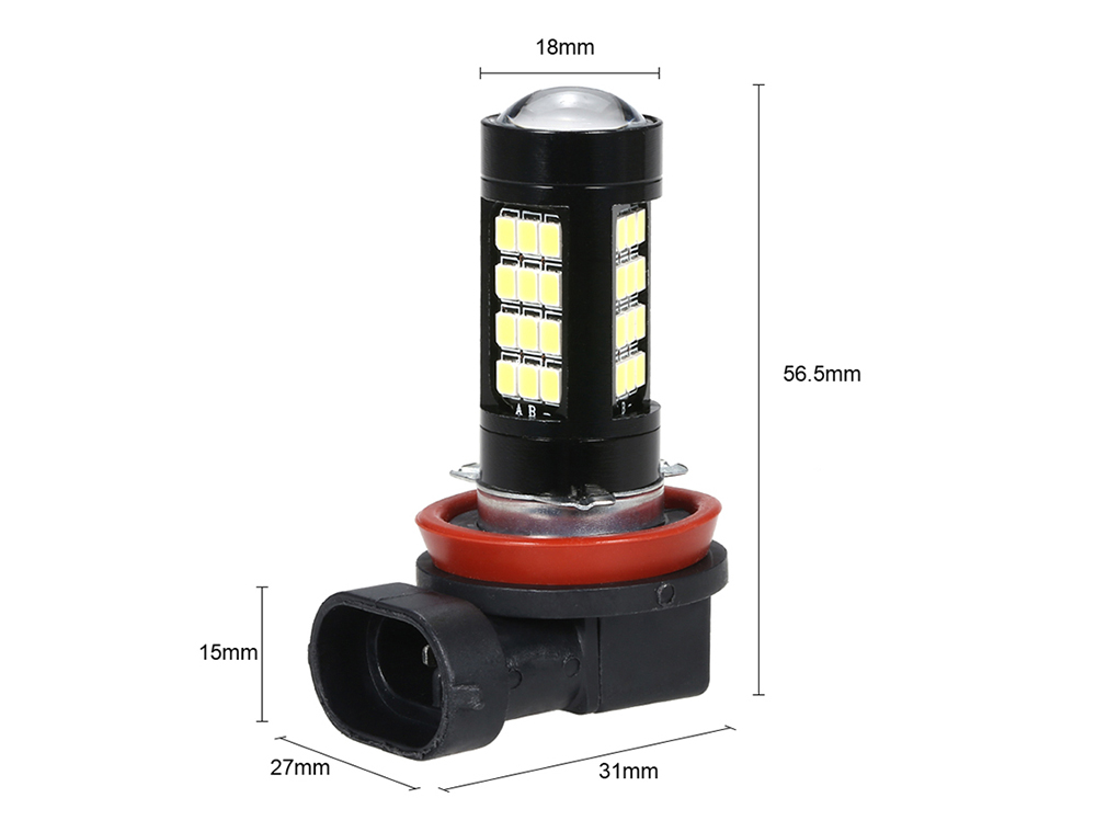 H11 H8 42 SMD LED Anti-fog Bulb- Nero