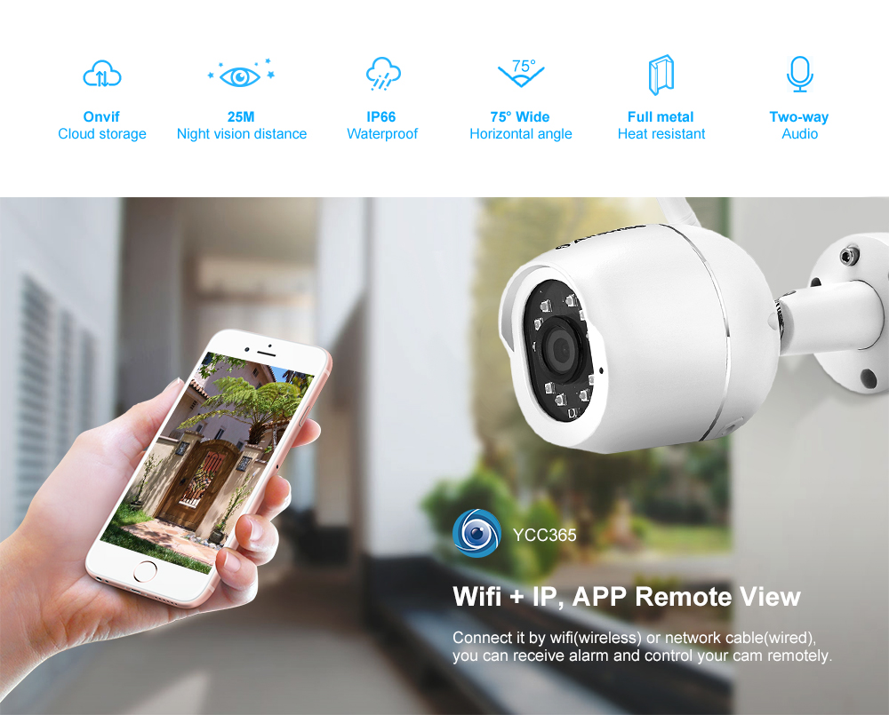 Alfawise ZS - GX4S 1080P Waterproof IP66 Outdoor IP Camera
