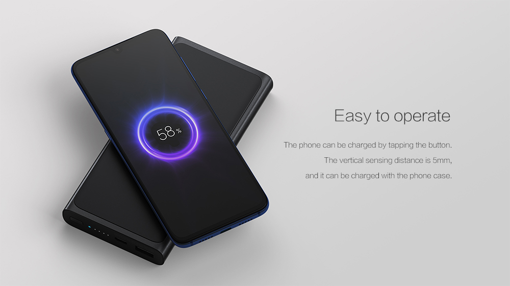 Xiaomi Wireless Power Bank 10000mAh for Daily Use- Black