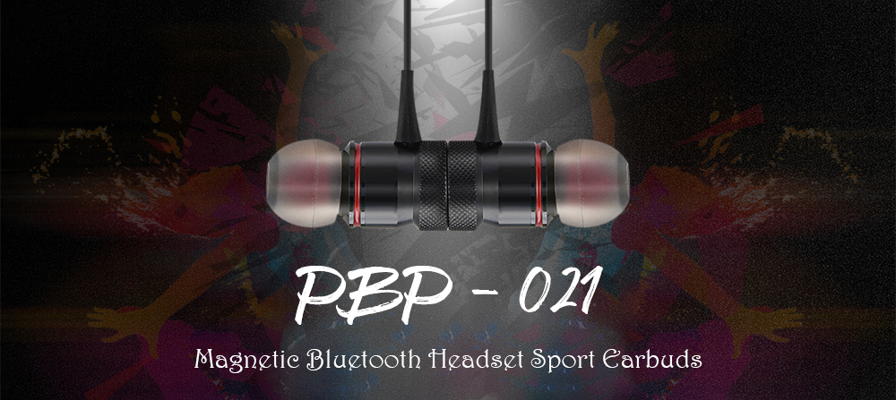 PBP - 021 Magnetic Bluetooth Headset Sport Earbuds