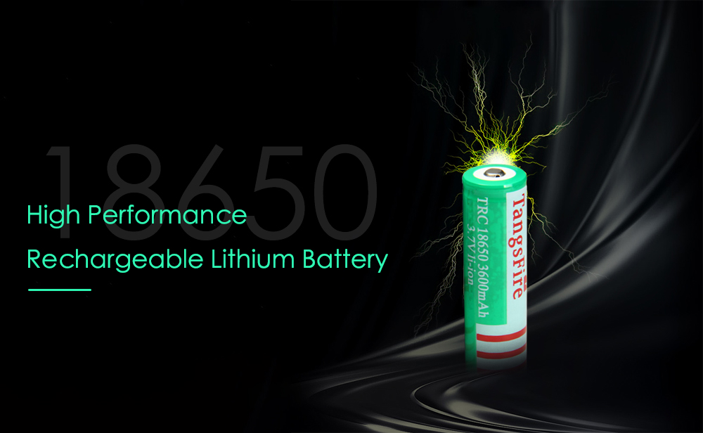 TangsFire Rechargeable 3.7V 18650 Lithium Ion 3600mAh Battery ( 2 PCs )- Grass Green