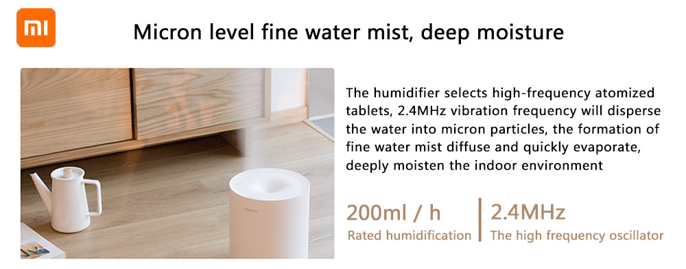 Smartmi Ultrasonic Powerful High Spray Smart Humidifier ( Xiaomi Ecosystem Product )- White