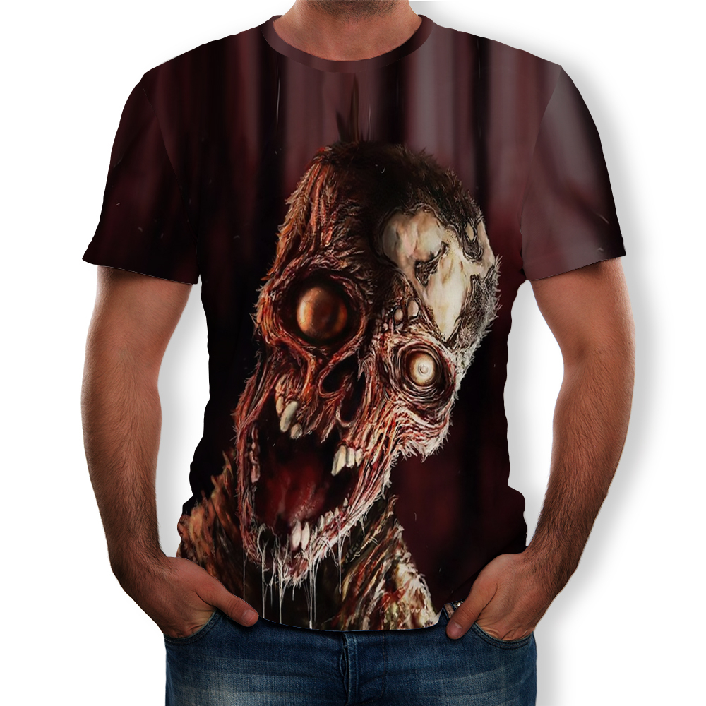 4PING Mens Stars Digital Printing Couple T-shirt Casual Round Neck Cap Short Sleeve With Hoodies
