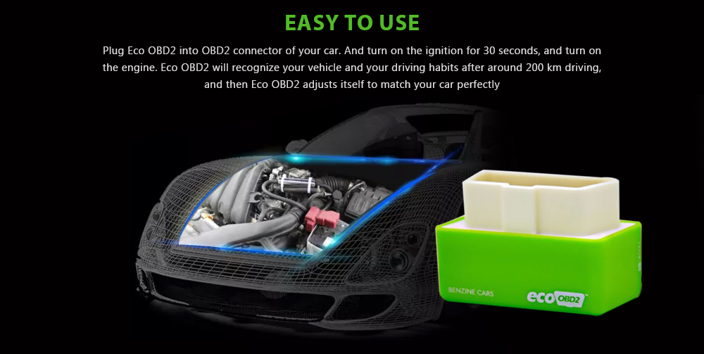 Eco Obd2 Plug And Drive Performance Chip Lower Fuel Gas Saver For Benzine Cars