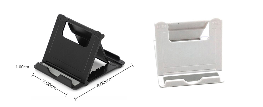 Foldable Adjustable Mobile Phone Bracket- Black 1pc