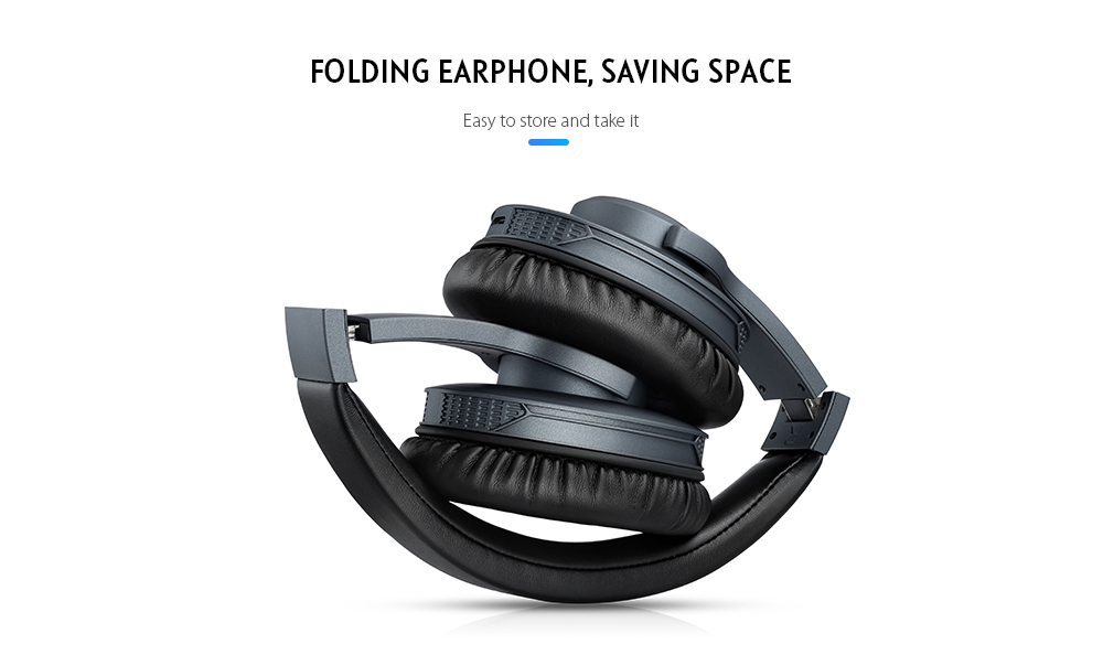 Alfawise WY - G08 Folding Stereo Bluetooth Headphones- Black