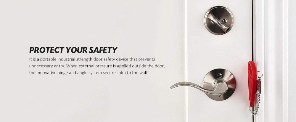 Portable Security Door Anti-theft Lock- Silver