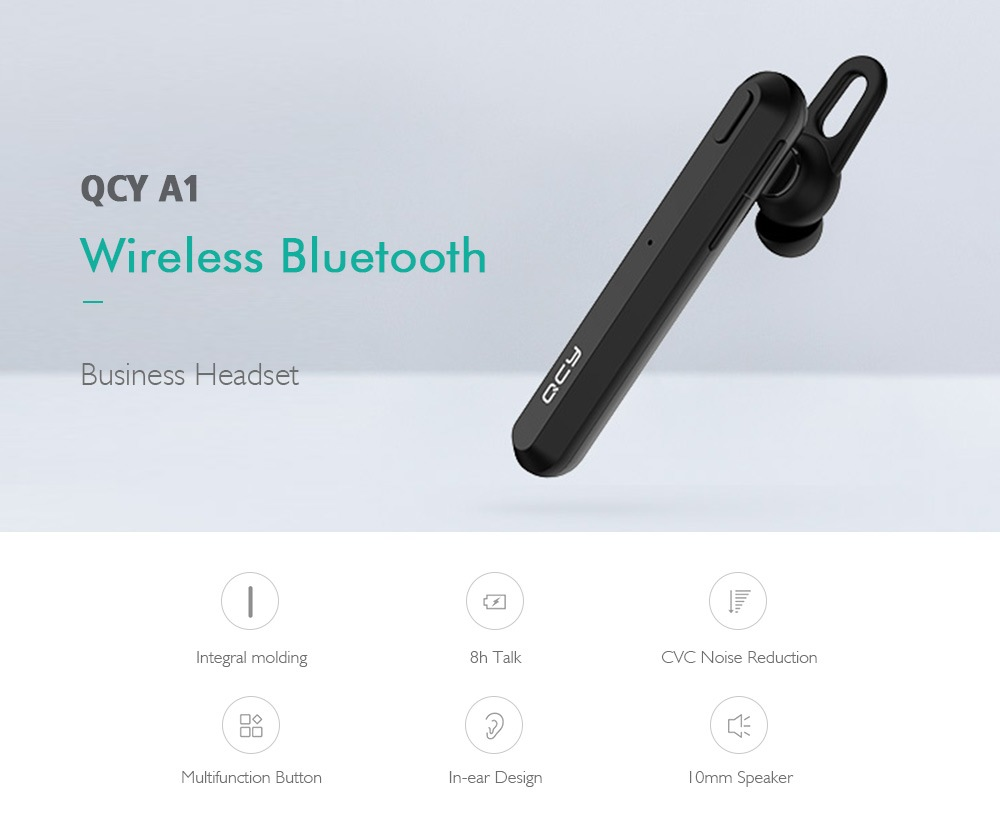 QCY A1 Wireless Bluetooth 5.0 Business Headset In-Ear Stereo Earbuds Earphones