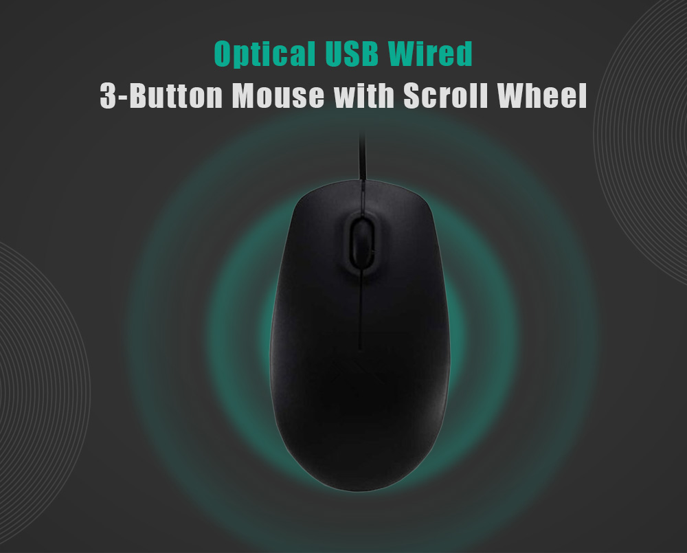 Optical USB Wired 3-button Mouse with Scroll Wheel