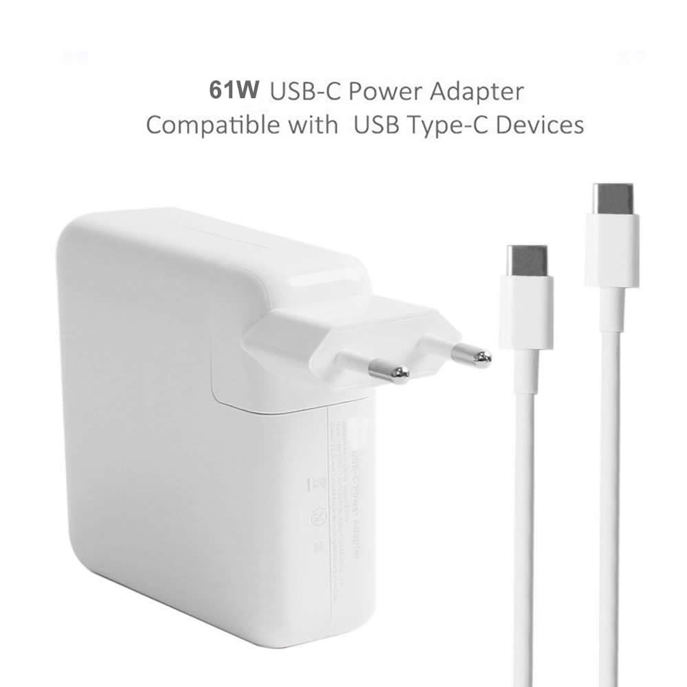 61W USB-C Power Adapter with Type-C Charge Cable for MacBook pro 13inch /  12inch