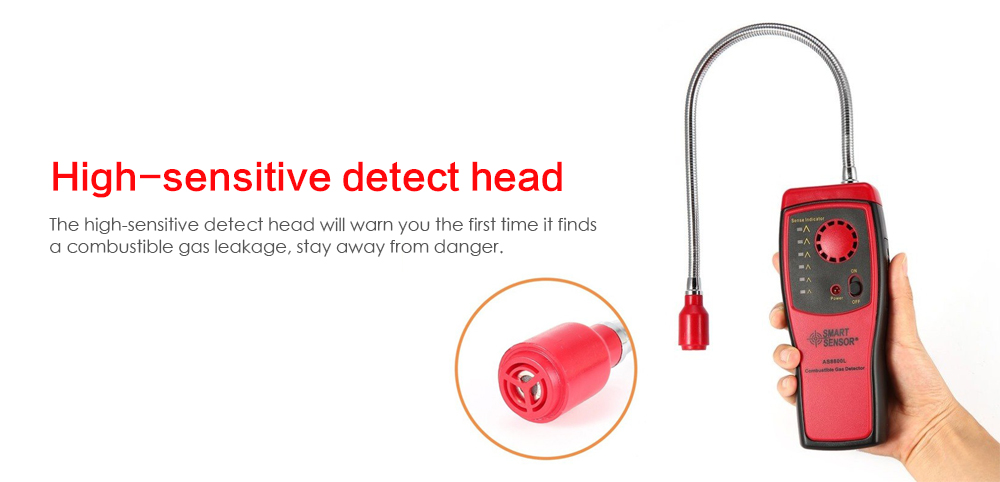 AS8800L Combustible Gas Leakage Detection Home Alarm Device- Multicolor