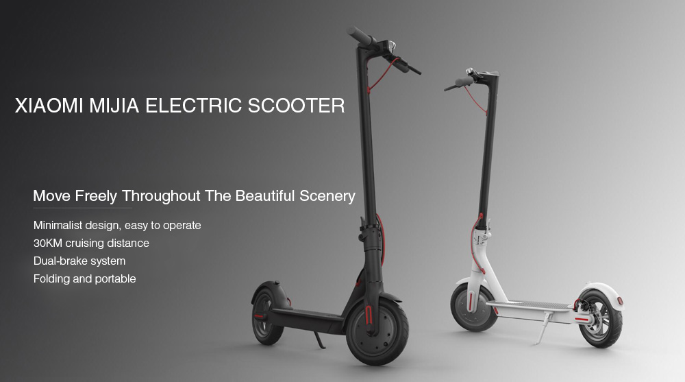 Original Xiaomi M365 Folding Electric Scooter Ultralight Skateboard with E-ABS Cruise Control ( Europe Version )- Black