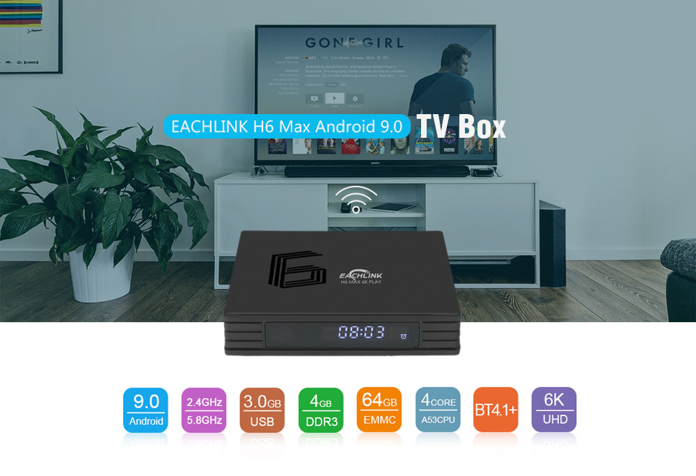EACHLINK H6 Max Android 90 TV Box/4+64G