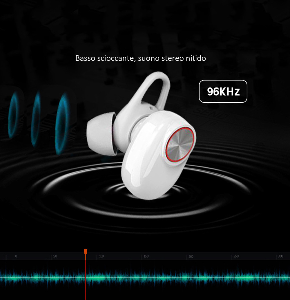Esonstyle S990 TWS Bluetooth V5.0 Auricolare Bluetooth- Bianca