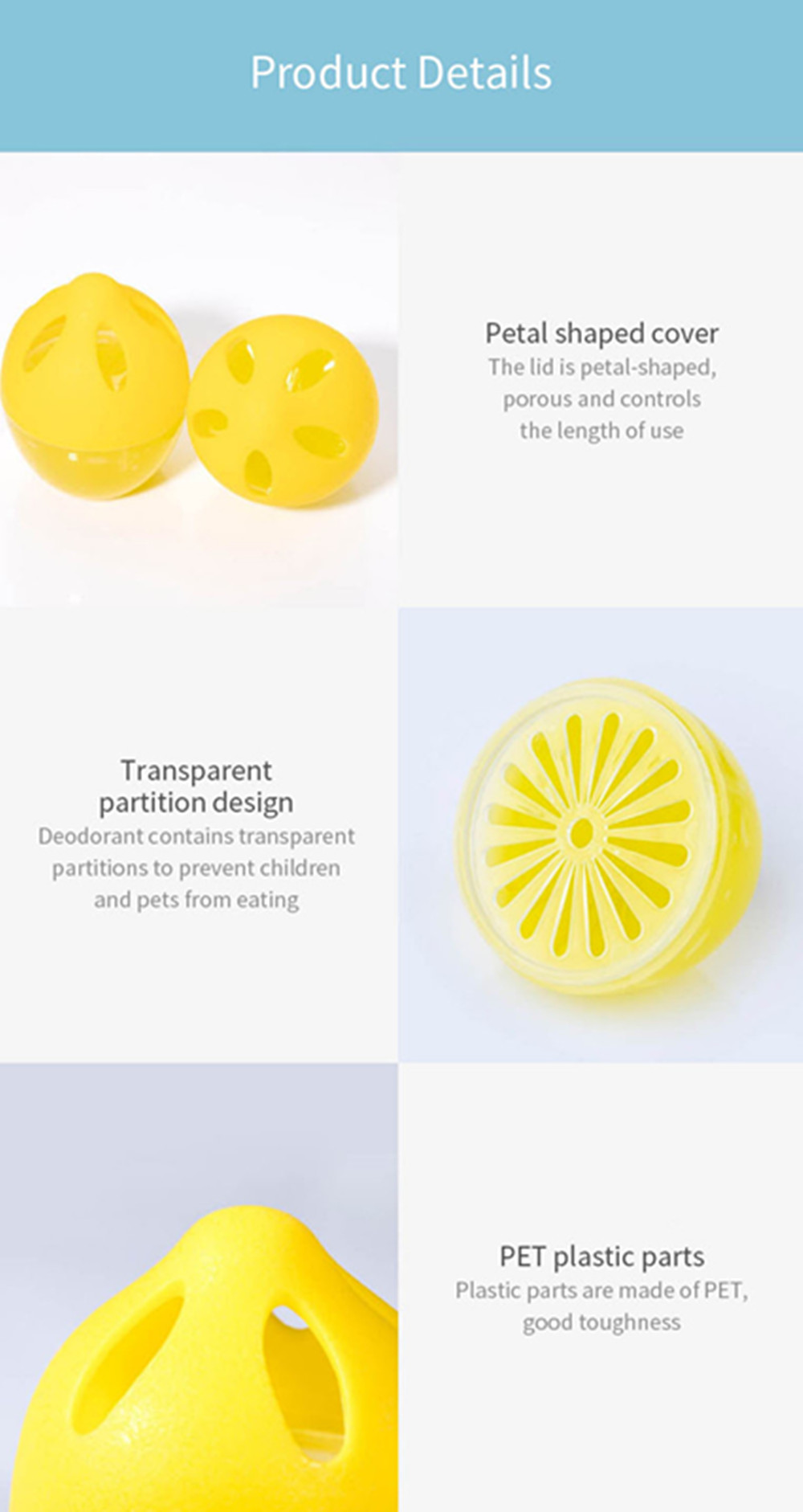 Xiaomi Refrigerator Deodorant Air Fresh Purifier 3PCS - Yellow