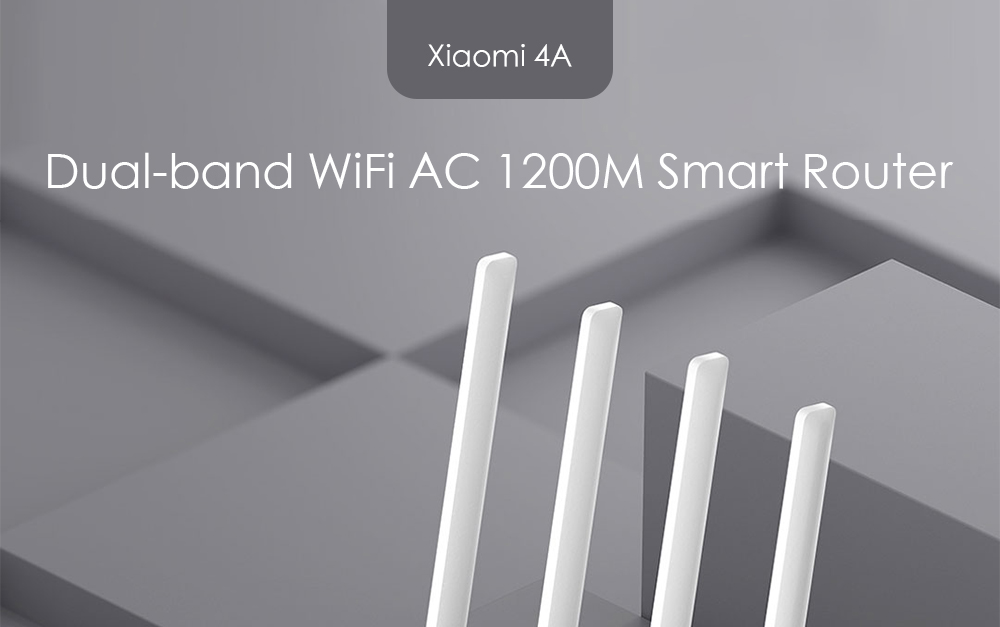 Xiaomi 4A 2.4GHz 5GHz WiFi Dual-band AC1200M Smart Router- White
