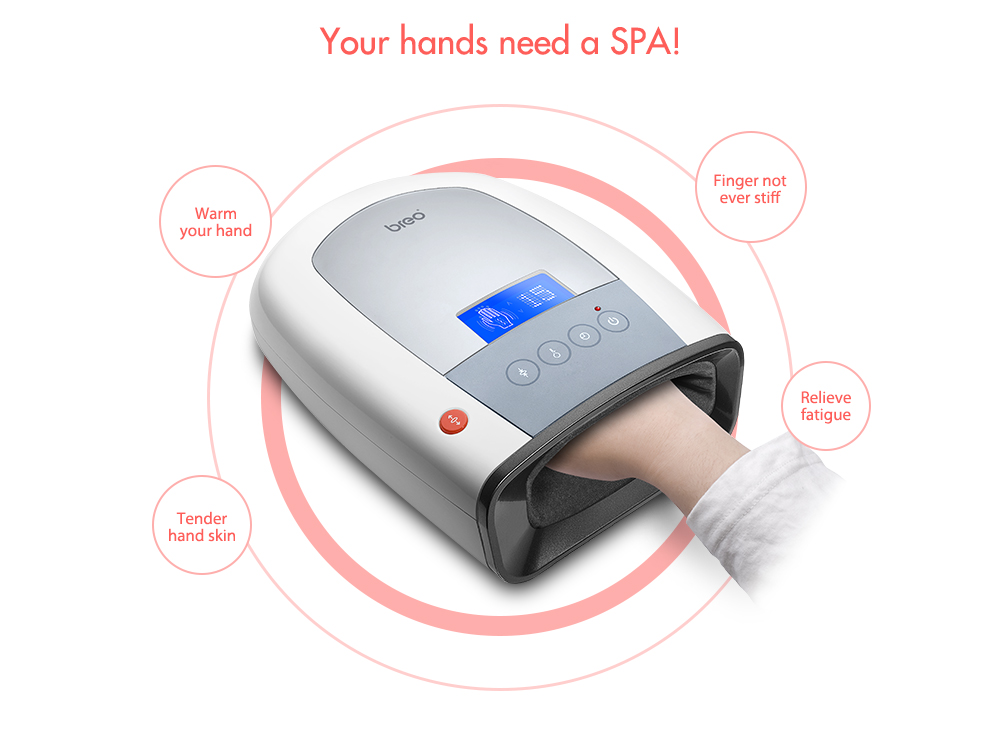 Alfawise ipalm520 Hand Massager- White